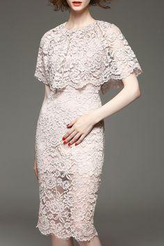 lace capelet dress