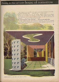 House of Tomorrow Exterior Aust. House and Garden, Feb 1957
