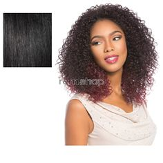 Instant Weave Evans - Color 1 - Synthetic (Curling Iron Safe) Half Wig
