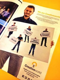 Our latest Ad in Lancashire Business View - We are Creativeworld.co.uk