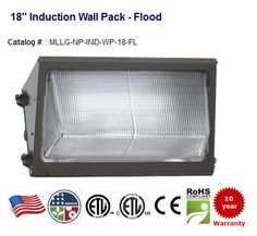 80-200W Induction Wall Packs. Replaces 160-400W HID. 6400-16000 lumens.