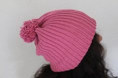 Crochet Beanie Pink | Etsy Crochet Beanie, Knitted Hats, Winter Hats, Pink, Etsy, Vintage, Knitting, Handmade, Hand Made