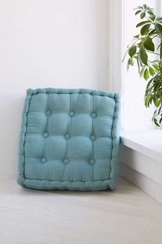 Tufted Corduroy Floor Pillow - Urban has a deal on these - 2 for $70, and the colors are great!