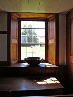 This window is in the kitchen of the Church Family Dwelling at Hancock Shaker Village, Pittsfield, MA