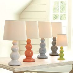 Pastel table lamps