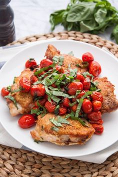 Recipe: Pan-Seared Chicken Thighs with Blistered Tomatoes & Basil — Weeknight Dinner Recipes from The Kitchn | The Kitchn