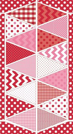 NEW Valentine's Day Banner  Riley Blake Holiday by StitchinStash, $6.00