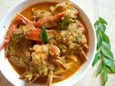 Ingredients Crabs - 6 to 7 (Big Size) Onions - 2 (chopped Julienne) Fresh Coconut - 1 cup(Grated) Fennal Seeds - 2 tbsp Cumin Seeds - 1 tbsp Ginger - 1 inch (Chopped) Garlic Cloves - 7 to 8 Tomato - Coriander Leaves - 3 strands Turmeric. Goan Recipes, Veg Recipes, Curry Recipes, Indian Food Recipes, Cooking Recipes, Healthy Recipes, Ethnic Recipes, Healthy Food, Lobster Recipes