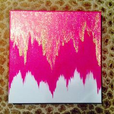 "Pink ""Sleeping Beauty"" Ombre Pixie Dust Canvas"