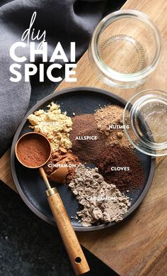 Do you love chai flavored recipes? Learn how to mix up your own chai spices to create the tastiest chai tea lattes, apple chai oatmeal cups, or chocolate chai overnight oats! Add these chai spices to your cabinet. Add to an iced drink, smoothie, overnight oats, or your favorite sweet snack for a chai spice twist!