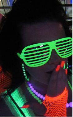 Style for 80's Teen Neon Black Light Dance birthday party http://thevaultfrisco.com