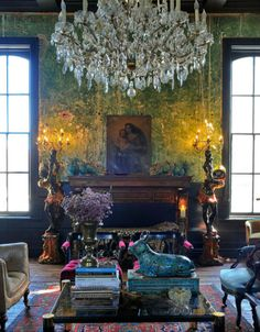 How to decorate a living room in the Bohemian Style. From Ad France home decorating magazine- #interior #design #art #installation #artwall #gallery #artcollection #collection #museumviews #painting #furniture #sculpture
