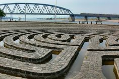 Water Labyrinth as Art in public space. 1981, Artist: Klaus van der Logt