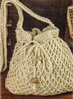 Diagramas de bolso tejido con ganchillo