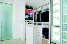 50 Best Closet Organization Ideas and Designs 2020 - Page 5 of 5 - InteriorSherpa Best Closet Organization, Organization Ideas, Dark Brown Cabinets, Beautiful Closets, White Drawers, Small Space Storage, Room Closet, Closet Designs, Cabinet Design