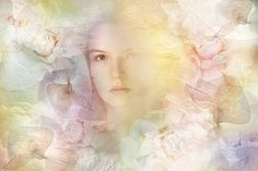 In The Garden Of Pale Blossoms by Ludmila Shumilova Multiple Exposure, Double Exposure, Fine Art Prints, Framed Prints, Canvas Prints, Gloss Matte, Floral Flowers, Pastel Colors, Poster Size Prints