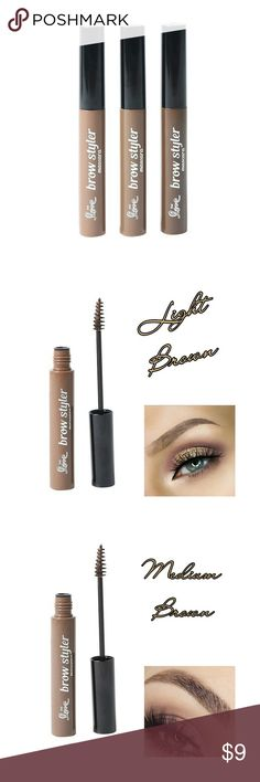 ✨Light Eyebrow Styler✨ Eyebrow gel to shape and fill arches for perfect eyebrows. Mascara wand easily distributes eyebrow gel throughout for more defined brows.   Available in 3 colors:  - Light Brown  - Medium Brown  - Dark Brown Makeup Eyebrow Filler