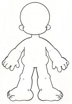 cuerpo para niños dibujo