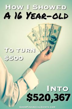 How I Showed a 16-Year-Old to Turn $500 into $520,367 http://www.manhattanstreetcapital.com/