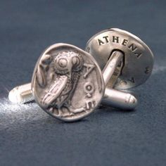 From the Museum Store Company:   Athenian owl cufflinks.