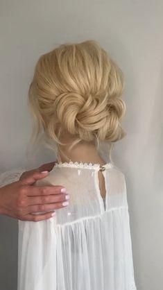 Long Hair Upstyles, Bun Hairstyles For Long Hair, Braided Hairstyles, Wedding Hairstyles, Simple Hair Updos, Braided Upstyles, Wedding Hair And Makeup, Bridal Hair, Hair Makeup