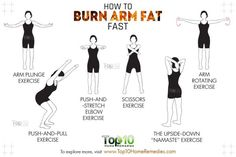 how to burn arm fat fast routine
