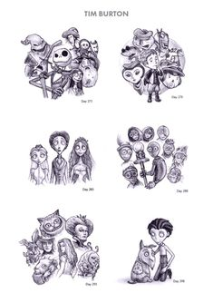Tim Burton Sketches Pinterest: Lily Zarate