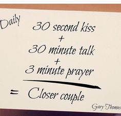 but switch talk with prayer time.