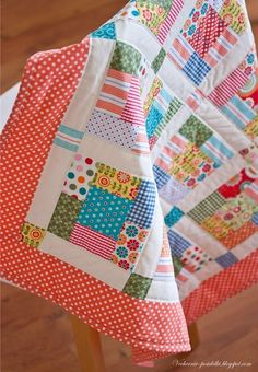 Colourful quilt..