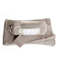 Samantha Holmes - Oyster Alpaca Travel Shawl And Travel Pillow - Natural Bamboo Care, Baby Alpaca, Knitted Shawls, Travel Style, Oysters, Bag Making, Travel Pillows, Summer Nights, Knitting