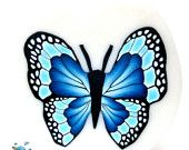 Polymer clay cane- blue BUTTERFLY cane -by Mars