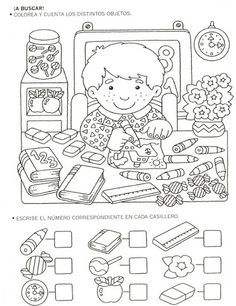 Crafts,Actvities and Worksheets for Preschool,Toddler and Kindergarten.Lots of worksheets and coloring pages. Back To School Worksheets, Kindergarten Worksheets, Worksheets For Kids, Preschool Activities, Coloring Books, Coloring Pages, Hidden Pictures, Math Numbers, Math For Kids