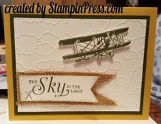 Sky is the Limit - Stampin' Press   2016 Stampin Up, 2016 Sale A Bration, 2016 SAB,
