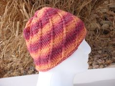 Hand knit wool and soy blend hat by stickshooksandyarn on Etsy, $25.00