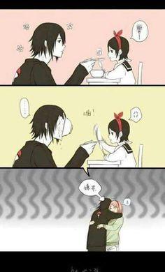 Sweet you know~ sweet~ :3 Sasusaku Sasuke Uchiha Family~