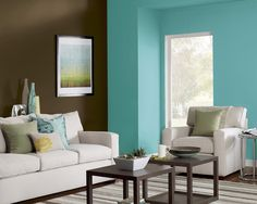 Add A Splash Of Color To One Wall Brighten Up Room