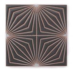 handpainted cuerda seca tile