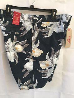 5e339d528c502 LEVI'S Mens Size 36 Straight Chino Floral Shorts Black Hawaiian  191291783618 | eBay
