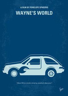 Wayne's World - minimal movie poster