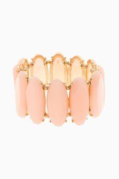 Peach-Oval-Jewel-Bracelet