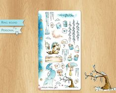 JANUARY 2019 - Watercolor Stickers For Winter Times, Perfectly Fitting Personal Sized Planners: Various Snowy Illustrations Watercolor Stickers, Ring Binder, Winter Time, Planners, January, Illustrations, Times, Unique Jewelry, Handmade Gifts