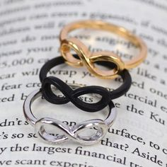 3 pcs Mix Colors Fashion infinite infinity Ring - Or these? Friendship Rings, Love Ring, Colorful Fashion, Color Mixing, Heart Ring, Jewelery, Best Gifts, Jewelry Accessories, Bling