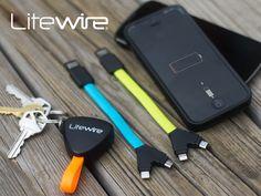 It's pocket sized. Charges up to 2x faster. Protects your data. LiteWire is the fastest & safest compact dual charging cable available.