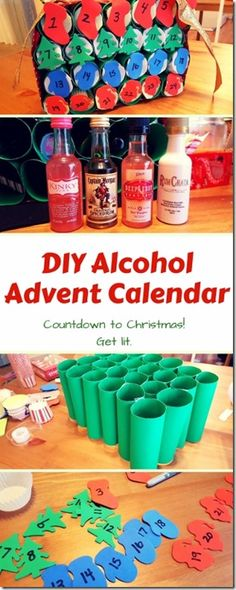 Diy Alcohol Advent Calendar Alcohol Advent Calendar Beer Advent