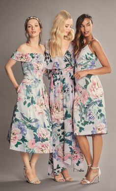 Floral bridesmaid dresses for your leading ladies