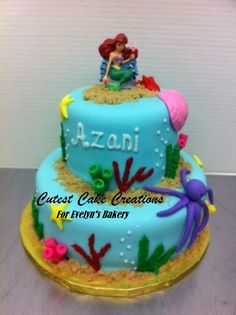 ariel tiered cakes | ... Mermaid - by EvelynsBakery @ CakesDecor.com - cake decorating website