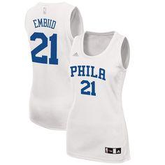 Joel Embiid Philadelphia 76ers adidas Women s Fashion Replica Jersey - White d98e30887