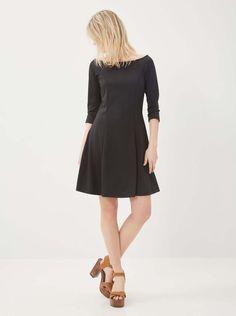 Černé šaty s 3/4 rukávy Vero Moda Kari