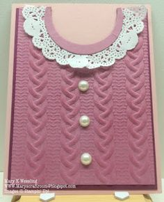 Mary's Craft Room: Cable Knit Sweater Card