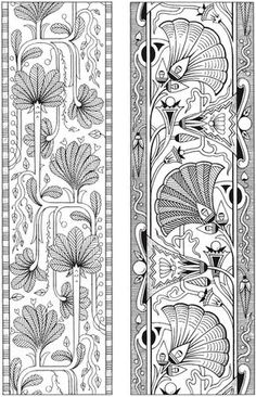 Dover publications, Creative Haven Art Deco Egyptian Designs Coloring Book. Artw… Dover publications, Creative Haven Art Deco Egyptian Designs Coloring Book. Artwork adapted from designs by Paul Marie. Motif Art Deco, Art Nouveau Pattern, Art Nouveau Design, Design Art, Art Designs, Colouring Pages, Adult Coloring Pages, Coloring Books, Art Deco Artwork